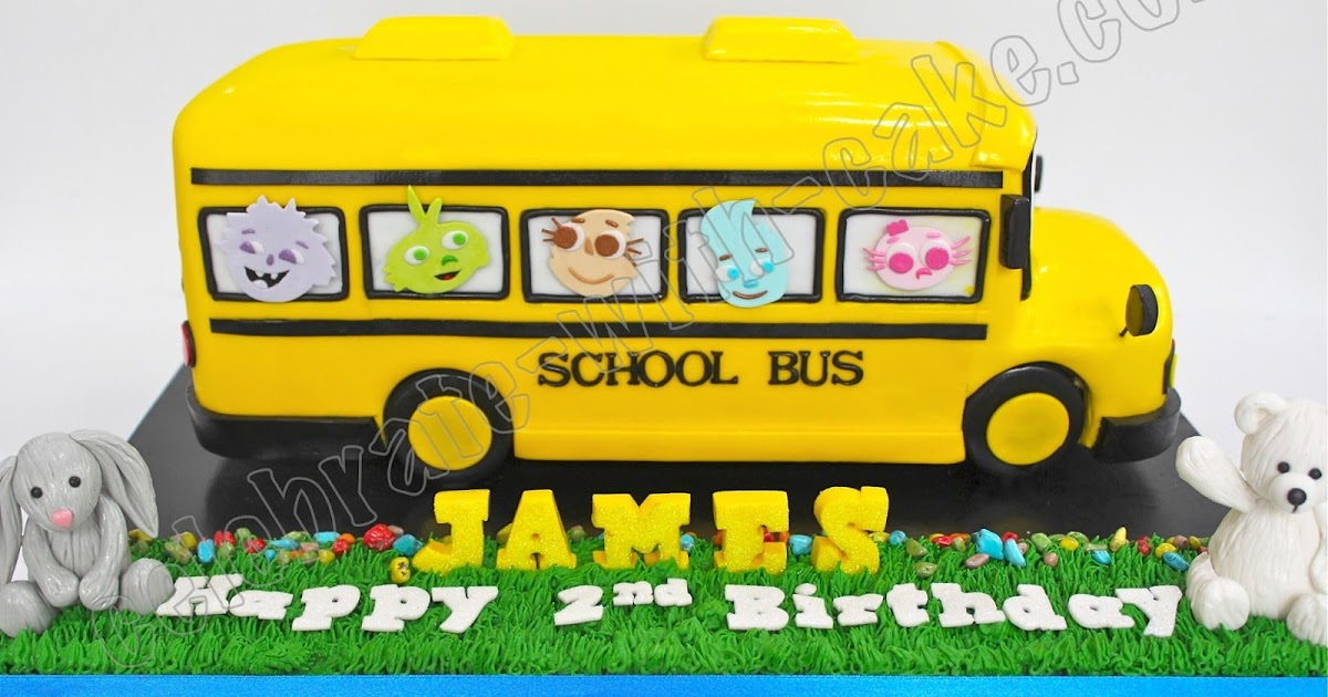 Pleasant Celebrate With Cake Yellow School Bus Cake Personalised Birthday Cards Cominlily Jamesorg
