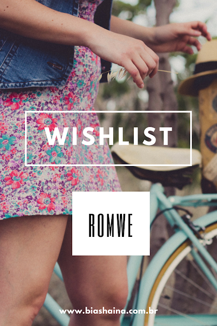 Whishlist ROMWE - Top Cropped e Shorts