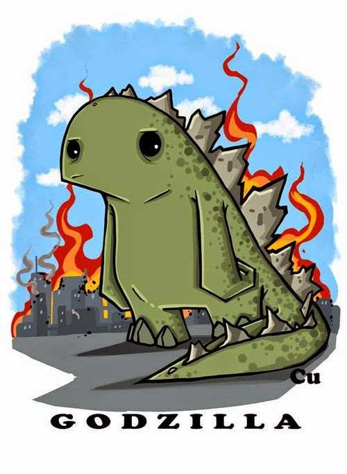21-Godzilla-Chris-Uminga-Game-of-Thrones-Watercolours-www-designstack-co