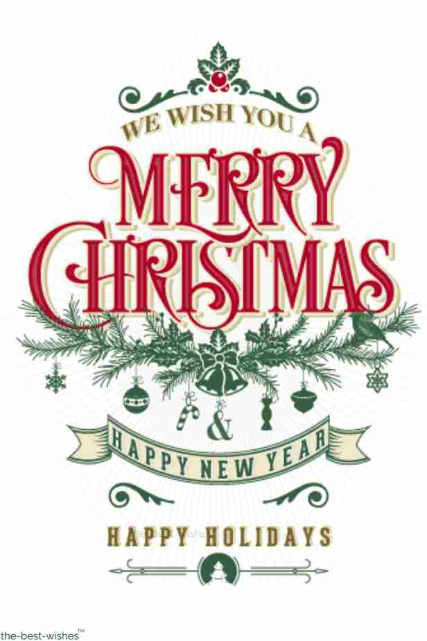 christmas message we wish you a merry christmas and happy new year happy holidays