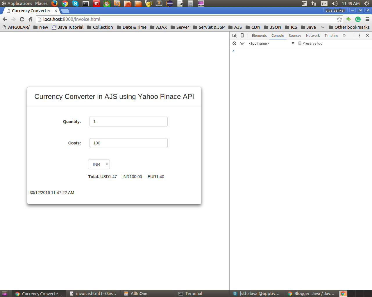 Java Currency Converter Api