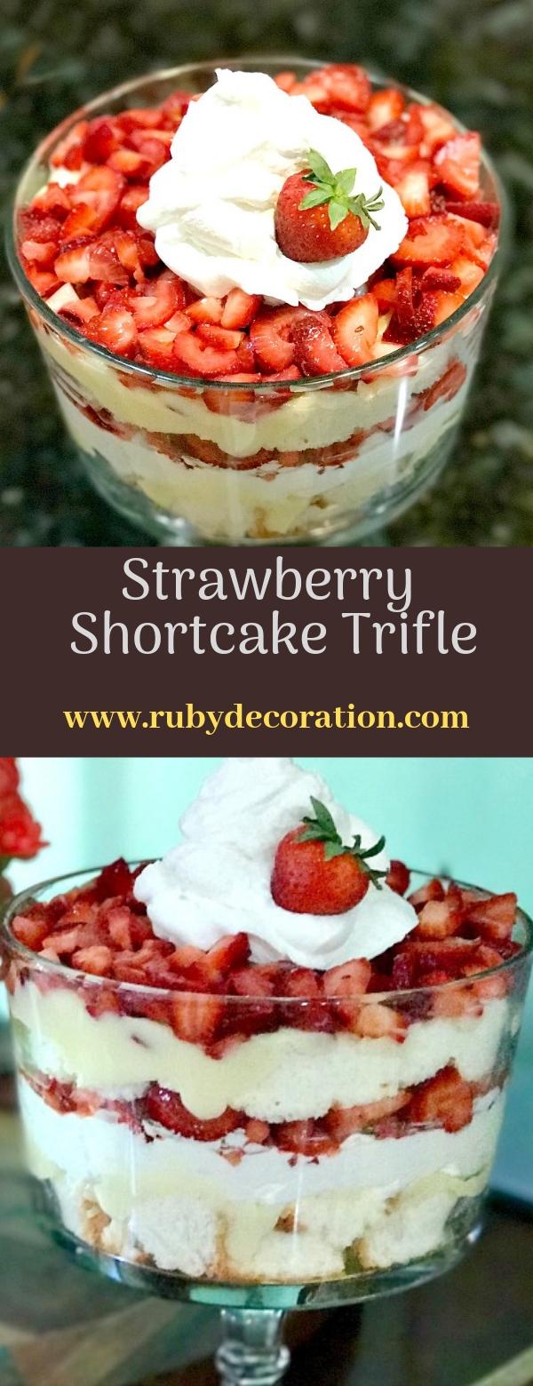 Best Ever Strawberry Shortcake Trifle