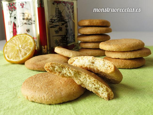 Galletas de limón sin mantequilla y sin lactosa