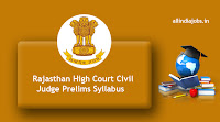 Rajasthan High Court Civil Judge Prelims Syllabus