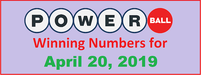 PowerBall Winning Numbers for Saturday, April 20, 2019