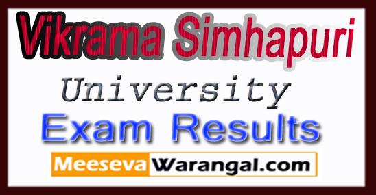 Vikrama Simhapuri University VSU B.Ed Regular 2017 Results
