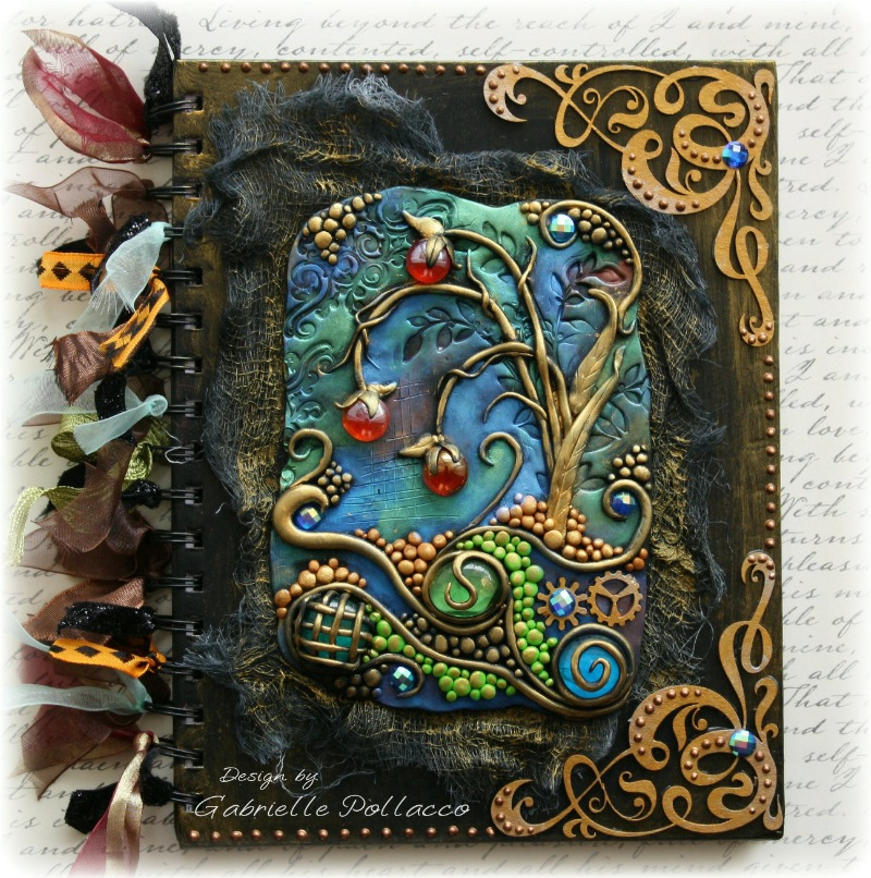 Book Cover Watercolor Mixing : The dusty attic quot mixed media journal cover
