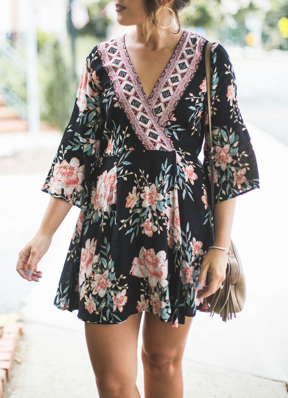 Billabong Divine Floral Dress, gucci soho disco, boho dress, floral dress