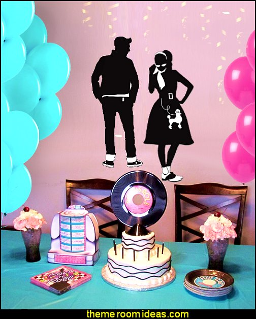 50s party decorations 50s party ideas - 50s party decorations - 1950s Theme Party - 1950u0027s & Decorating theme bedrooms - Maries Manor: 50s party ideas - 50s ...