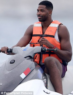 Cleaveland Cavaliers player Tristan Thompson on vacation