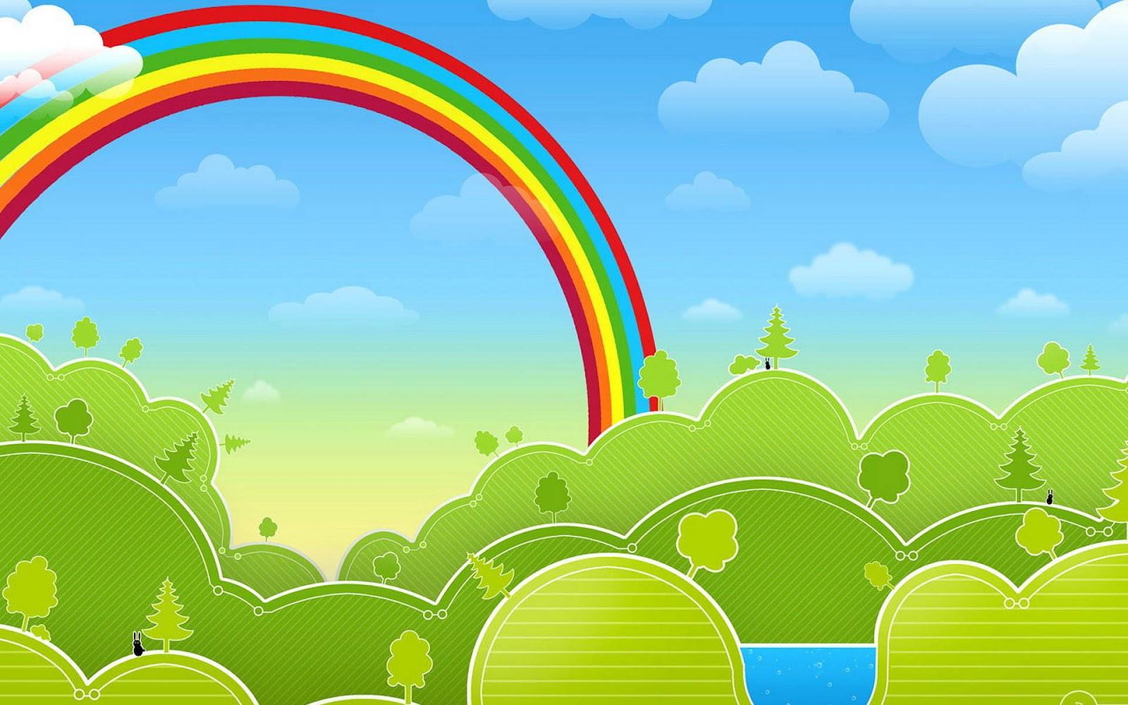 Smiley Full Hd Wallpaper And Achtergrond: 3D Achtergrond Met Een Regenboog