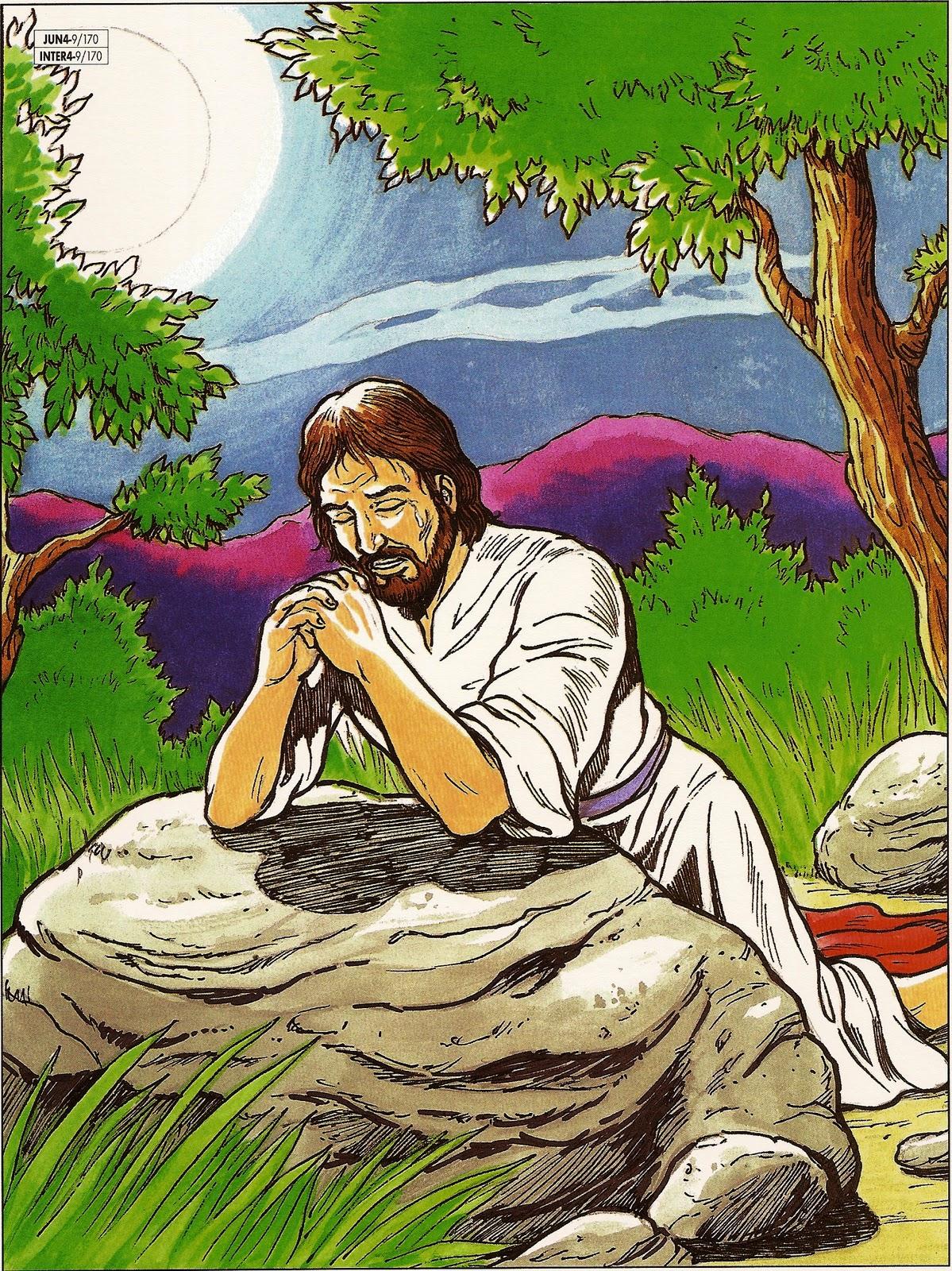 _.·Blog da Tia Alê: JESUS ORANDO NO JARDIM