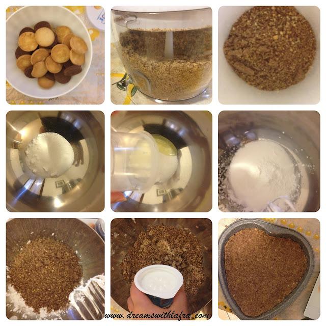 torta realizzata con i frollini Galameo preparazione