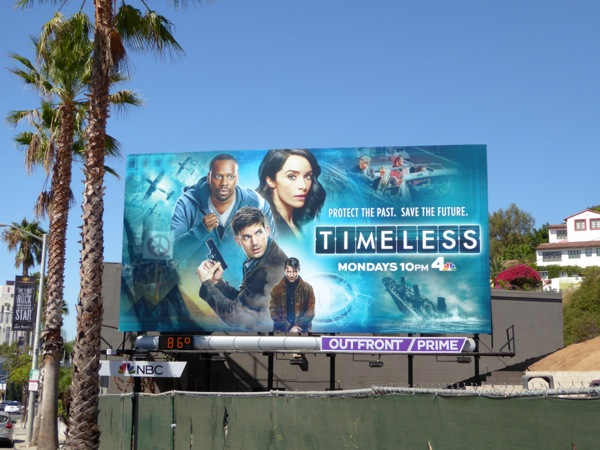 Timeless NBC series billboard