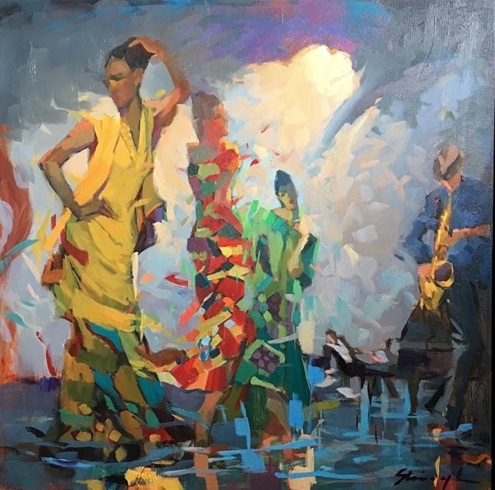 Взрывы цвета на холстах. Michael Steirnagle