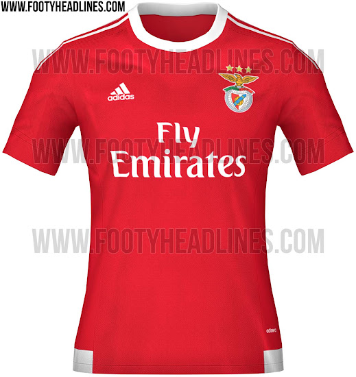 new products 7efae 36dc9 Benfica 15-16 Home and Away Kits Revealed - Footy Headlines