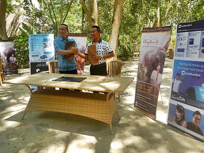 Lombok Taksi dan Elephant Park Sepakati MOU Promo Diskon 15 persen.