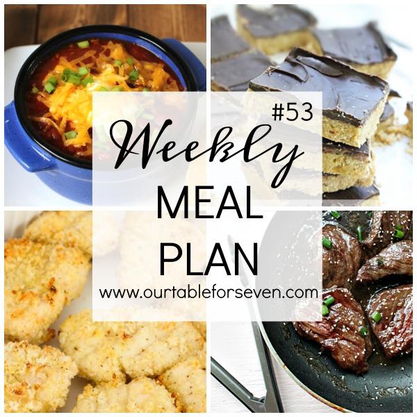 Weekly Meal Plan #53