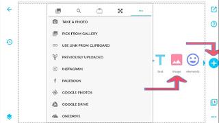Cara mengupload foto dan mulai mendesain dengan Aplikasi Desygner Android