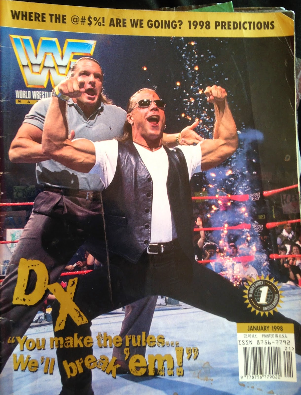 WWF Magazine - January 1998 - Triple H & Shawn Michaels DX cover