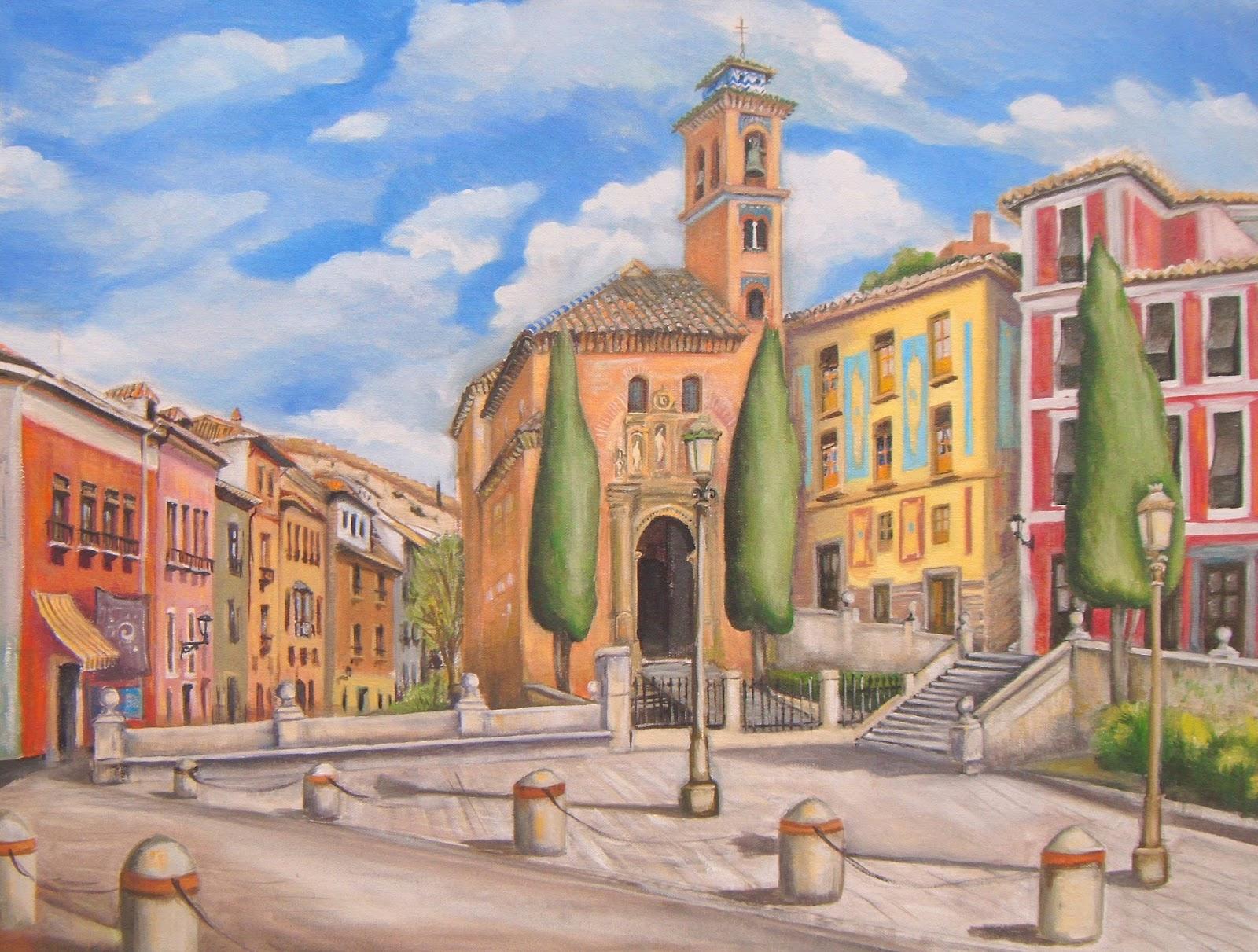 En Granada Plaza Nueva y Paseo de los Tristes   TALLER DE PINTURA AL ...