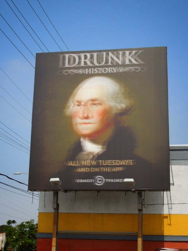 Blurry George Washington Drunk History season 2 billboard