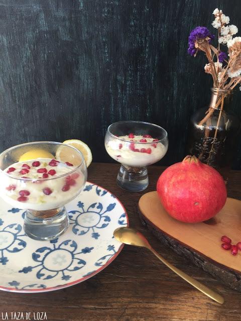 cremoso-de-limon-y-granadas, lemon-and-pomegranate-cream
