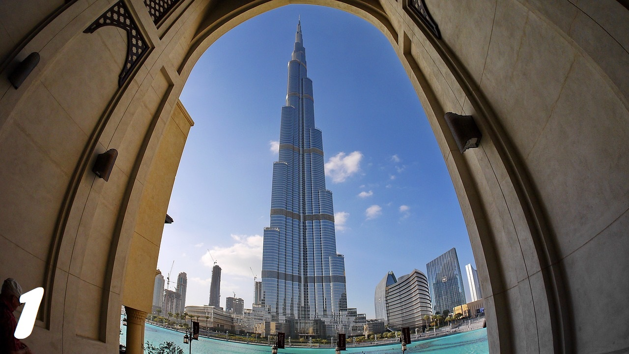 burj khalifa, Burj Khalifa, the iconic dubai, at the top