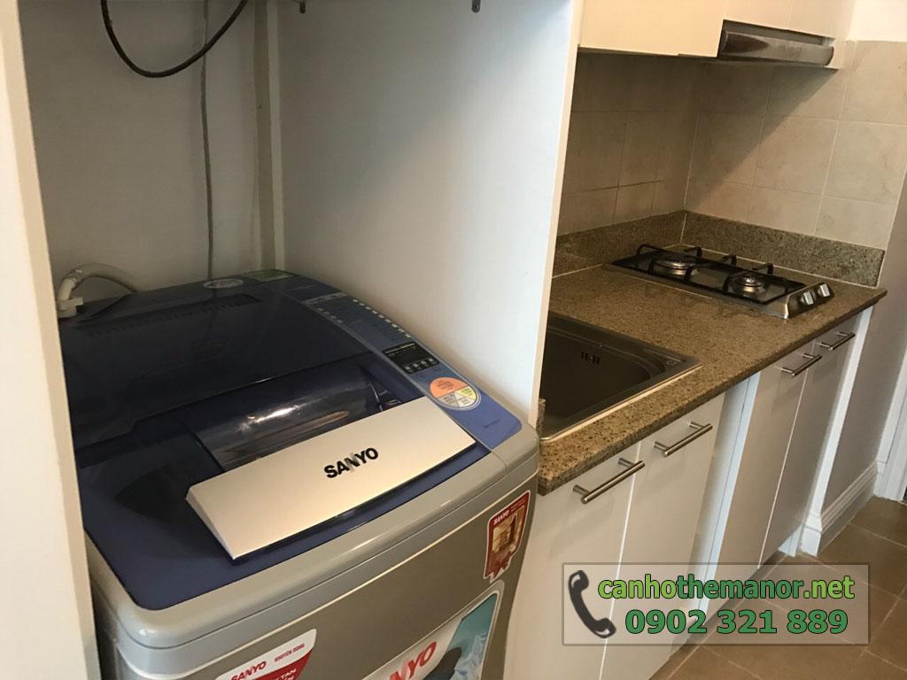 Cho thuê căn hộ 1PN full nội thất tầng 6 - The Manor 2 - máy giật sanyo và bếp