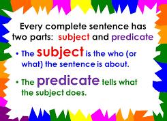 subject dan predicate dalam kalimat