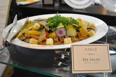 eel salad di amuz gourmet restaurant