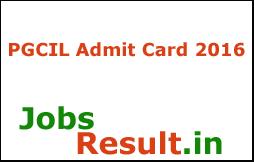 PGCIL Admit Card 2016