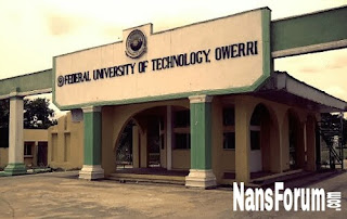 FUTO Direct Entry Admission List for 2017/2018 Session is Out.