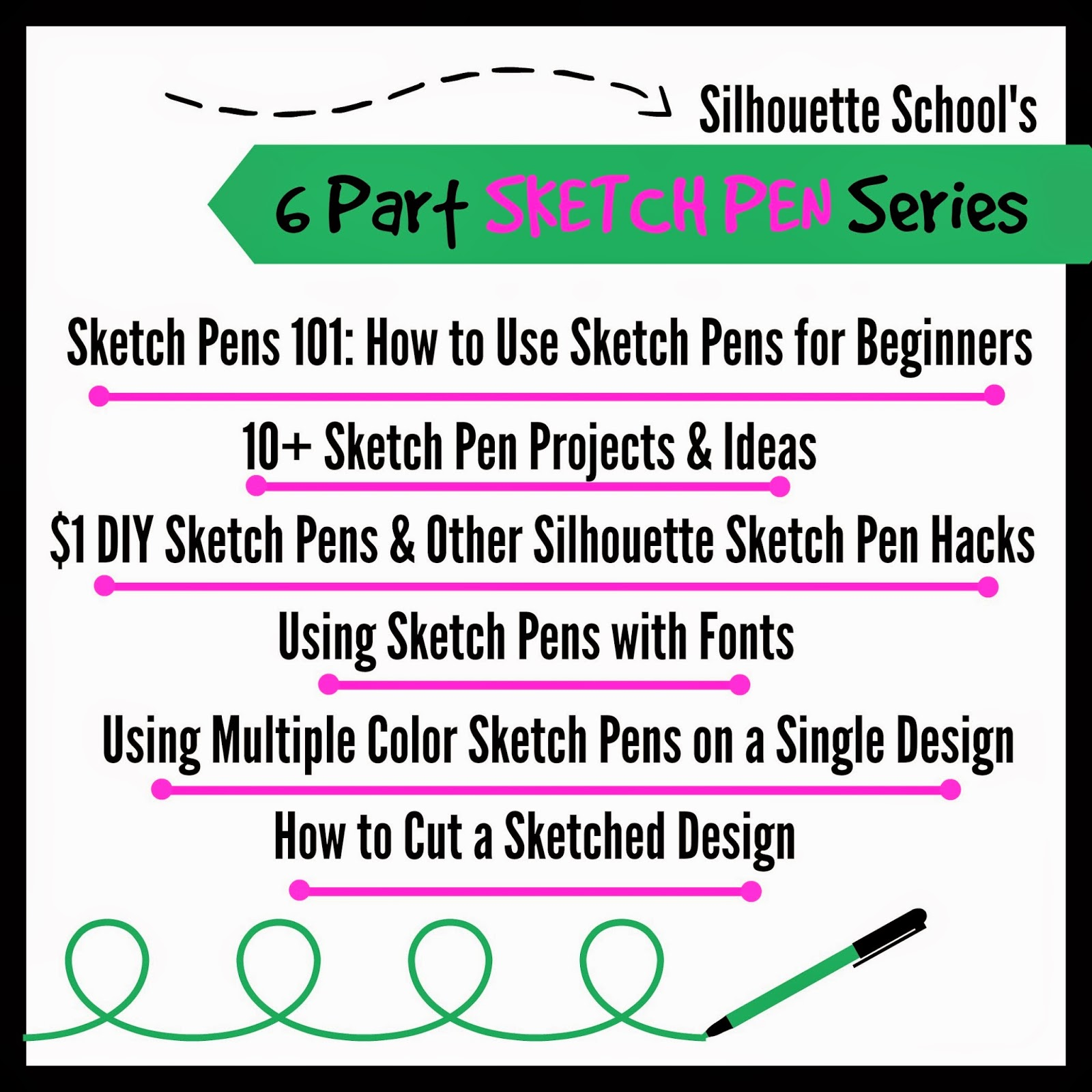 Sketch pen, Silhouette, tutorial, beginners, Silhouette Studio