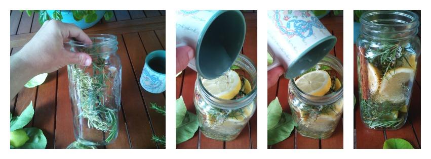 Velas flotantes aromatizadas. Tarros de vidrio con velas flotantes aromatizadas