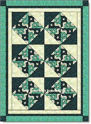 Chinese Puzzle quilt block - image © W. Russell