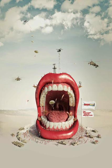 Carteles de publicidad impresa creativos