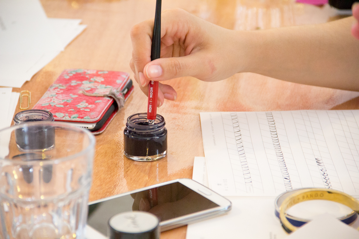 viking arty party lumiere london - 100 Ways to 30, calligraphy workshop,calligraphy writing, calligraphy practice, crafts, arts, heather chambers uk fashion & lifestyle blogger, calligraphy ink, potted ink