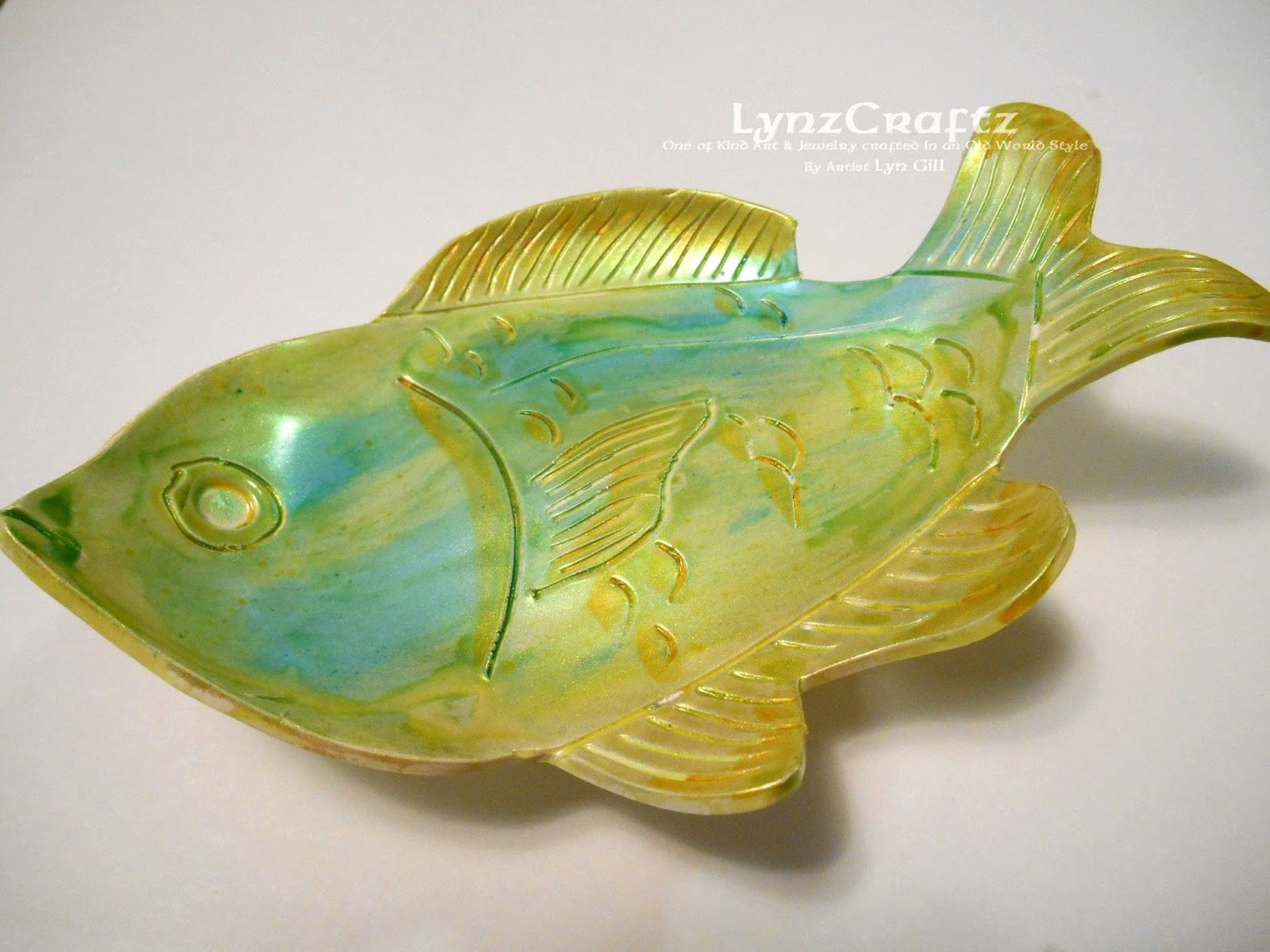 Lynzcraftz diy polymer clay fish dish ring dish for Sun perch fish