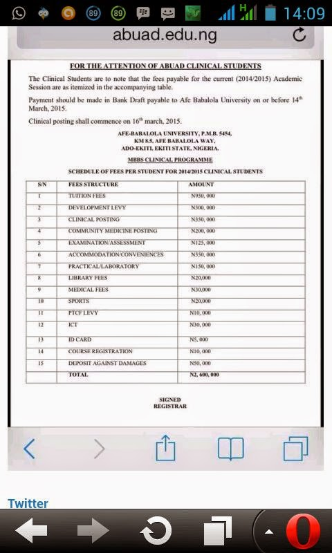 The most expensive university in Nigeria