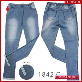 MOM081C14 Celana Hamil Jeans Rumbai Gradasi Celanahamil Ibu Hamil