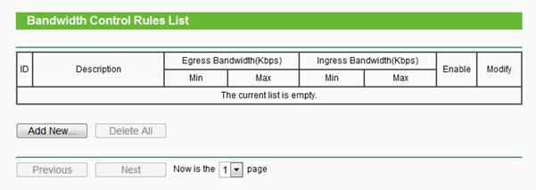 How can in manage the bandwidth controls for tplink wifi