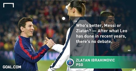 Messi is the only player about whom Zlatan never jokes.