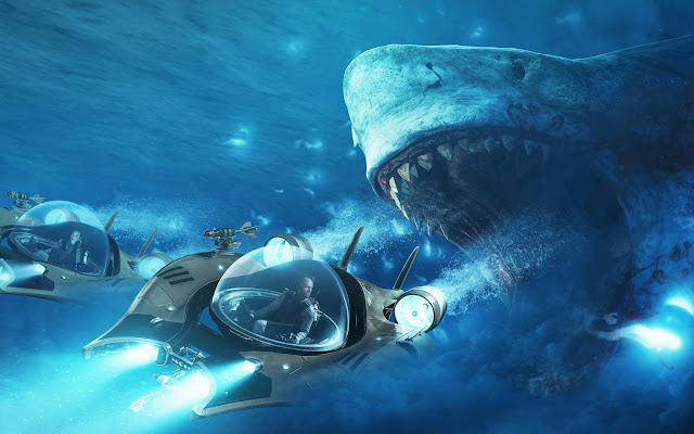 Papel de parede Tubarão Megalodon Filme Meg para PC, Notebook, iPhone, Android e Tablet.