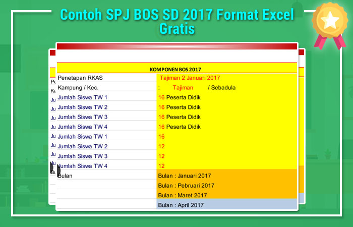 Contoh SPJ BOS SD 2017