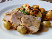 How Not to Make Roasted Pork Loin with Grapes and Rosemary Cream Sauce