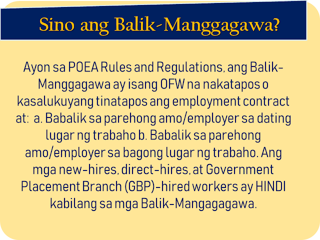 "The overseas Filipino workers (OFW) has long been waiting for the iDOLE card which was promised by the Department of Labor and  Employment (DOLE). It is said to replace the hassle and lengthy queues in applying for overseas employment certificate (OEC) and make the lives of the OFWs easier. With the release of the iDOLE being canceled due to lapses in implementation, the Overseas Workers Welfare Administration (OWWA) is now releasing a new ID for OFWs which is called the OWWA OFW e-Card. What is it and how to get it? In this article, we provided you with some vital information about the card as well as how and where the OFWs can get it.     Ads     Sponsored Links    What is OWWA OFW e-CARD?   OWWA OFW e-Card is proof of being an active OWWA member and aims to hasten access to OWWA programs and services. It is also recognized as a government-issued ID that can be used or presented in any transactions with Philippine Overseas Labor Office (POLO) or consulates and embassies abroad should an OFW need to avail assistance.    Who can apply for the OWWA OFW e-CARD?   All ""balik-manggagawa"" with an active OWWA membership, valid Overseas Employment Certificate / Exemption Number and valid passport may apply for OFW e-CARD. Note that your OWWA membership must be valid for more than 90 days from the day of your application to get an OFW e-CARD.   Can the newly deployed OFWs apply?   Currently, the OWWA OFW e-CARD is in Phase 1 only so Balik-Manggagagawa will first be given the first. The next month will also launch Phase 2 of the OFW E-Card where other active OWWA members who are not included in Phase 1 may also apply for the OWWA OFW e-Card.   Who are the Balik-Manggagawa?   According to the POEA Rules and Regulations, Balik-Manggagawa is an OFW who completes or currently completes the employment contract and:   a. Returning to the same employer/employer in the former workplace   b. Returns to the same employer/employer in the new workplace.   New hires, direct hires, and the Government Placement Branch (GBP) -hired workers are NOT among the Balik-Mangagagawa.   What are the benefits available to OWWA using the OWWA OFW e-CARD?  OWWA OFW e-CARD has various benefits for active OWWA members, as follows: Faster avails of OWWA programs and services It will serve as the exit clearance of the country Gaining Digital OWWA OFW e-CARD to OWWA Mobile App that can be used as well as OWWA OFW e-CARD Obtaining a permanent OWWA / OFW membership number Recognized government-issued Identification Card     How do I know the status of my OWWA Membership?   To find out about OWWA Membership status, you can Download the OWWA Mobile App on a smartphone. It's free on Google Play and App Store. You can also go to POLO-OWWA if you are working in a country or in an OWWA Regional Welfare Office at a place where you are in the Philippines.   If my OWWA Membership expired, where can I renew?   If an OWWA membership expires but there is still an active contract, you can renew the following procedures:   Online  - Visit and OWWA website www.owwa.gov.ph and just request the message at the top of the Online Application Form for OWWA OFW e-CARD  - You can also renew through the OWWA Mobile App   In Abroad  - Go to the POLO-OWWA office in your country In the Philippines  - Go to OWWA Regional Welfare Offices and OWWA satellite offices located at POEA Ortigas, NAIA Terminal 1, 2, and 3, Trinoma, and the Duty-Free Fiesta Mall.    Fill out the application form and select OWWA regional office on where you want to claim your OWWA OFW e-card  Click the submit button after completing the form.  Add your e-mail address or your Facebook profile name to monitor your card status and by visiting this link to check for the delivery status (card status tracker)  Get the OWWA e-card on your chosen OWWA regional welfare office.   How do I get my OWWA OFW e-CARD?   Please make an online application form and select OWWA Regional Welfare Offices where you want to pick up the OWWA OFW e-CARD.   If I am still abroad, can I apply for an OWWA OFW e-CARD?   Yes. Back-Workers who are still abroad may apply for OWWA OFW e-CARD online at www.owwa.gov.ph. For the time being, the pick-up location for OFW e-CARO is limited to OWWA Regional Welfare Offices in the Philippines. The OFW can take his OWWA OFW e-CARD to the country. Please note that an OWWA membership of an OFW must not be less than 90 days from the date of application to obtain an OWWA OFW e-CARD.   Can I get the OWWA OFW e-CARD even though I'm still abroad?   Possible. The OWWA Authorization Letter only provides the authoritative relative with a copy of the OFW's Passport Identification Page and filed it with the selected OWWA Regional Welfare Office.   What if I lost my OWWA OFW e-CARD?   OWWA OFW e-CARD is only free of charge. Contact the nearest OWWA Regional Welfare Office for information on how to obtain a new OWWA OFW e-CARD.overseas Filipino workers, OFW, iDOLE, Department of Labor and  Employment,  DOLE, overseas employment certificate, Overseas Workers Welfare Administration,OWWA OFW e-Card"