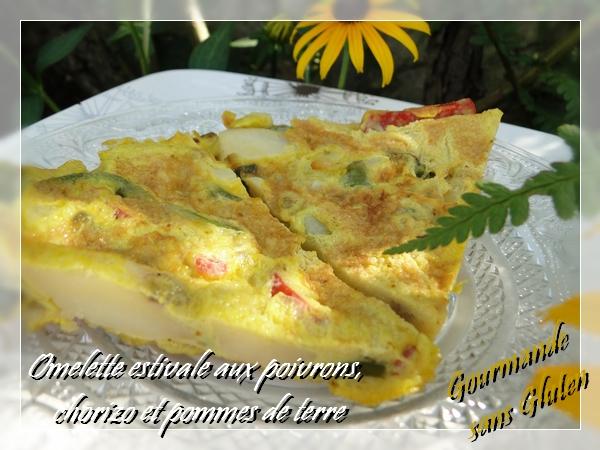 gourmande sans gluten omelette estivale aux poivrons chorizo et pommes de terre. Black Bedroom Furniture Sets. Home Design Ideas