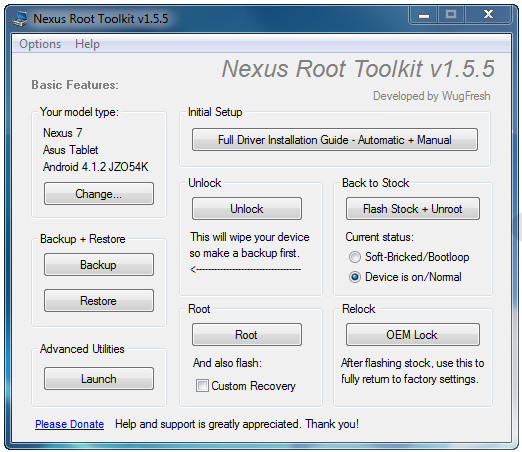 Nexus Root Toolkit v1.5.5
