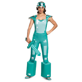 Minecraft Disguise Armor Female Adult Costume Gadget